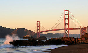 English: Baker Beach and Golden Gate Bridge