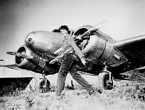 Amelia Earhart and Lockheed Electra 10E NR1602...