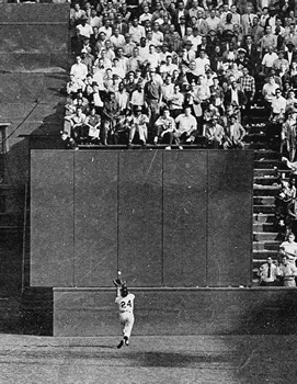 The Catch: Willie Mays hauls in Vic Wertz's dr...